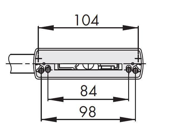 Klamka Siegenia LM do okien aluminiowych srebrna