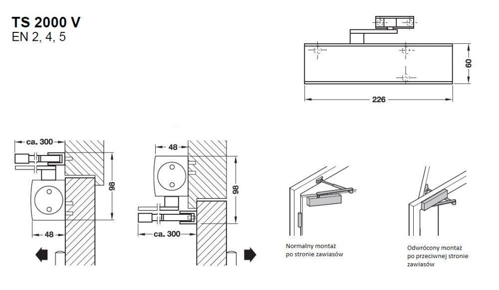 geze ts2000v bc samozamykacz rami standard bm okucia. Black Bedroom Furniture Sets. Home Design Ideas