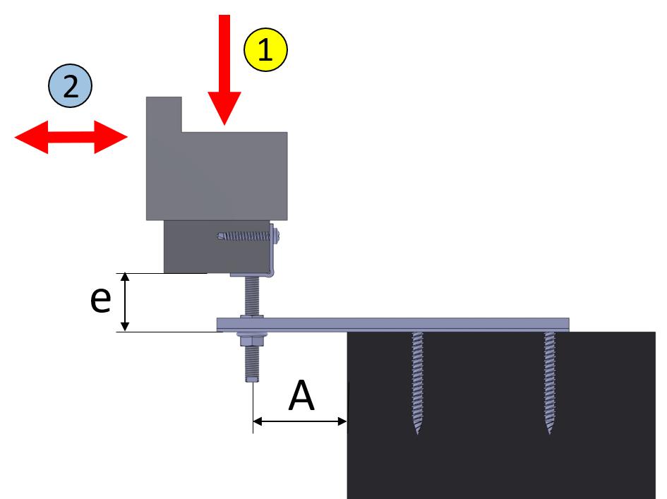 Przykład montażu kotwa WM